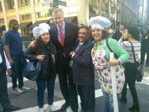 MISS CHEF® NY con BILL DE BLASIO, sindaco di NY
